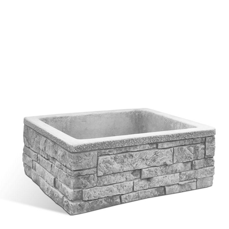Lavello da giardino e terrazzo in pietra ricostruita