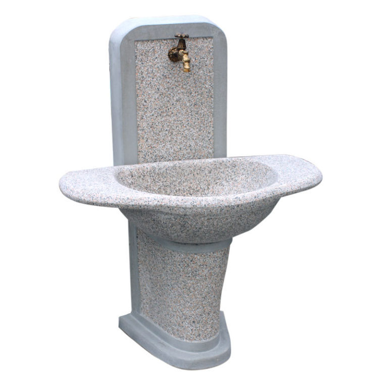 Fontana da Giardino in cemento martellinato - Mod. Pavia