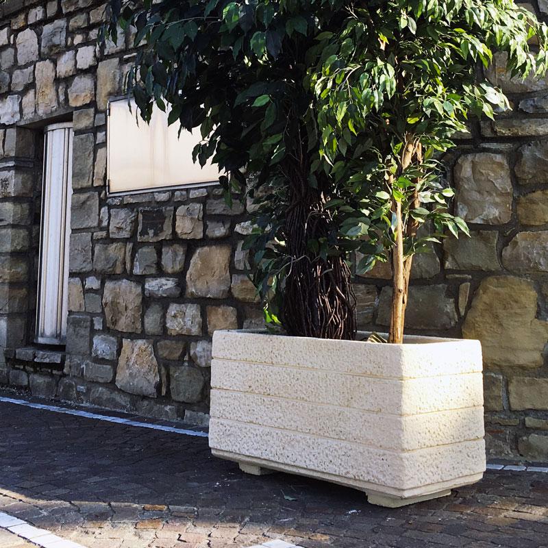 Fioriera in cemento per giardino - Mod. Adamelllo