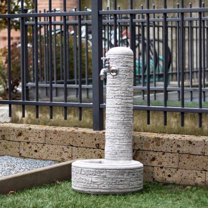 Fontana giardino pietra ricostruita Brumano G