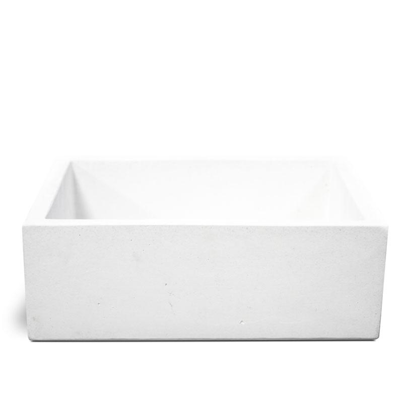 Lavello moderno in cemento Bianco