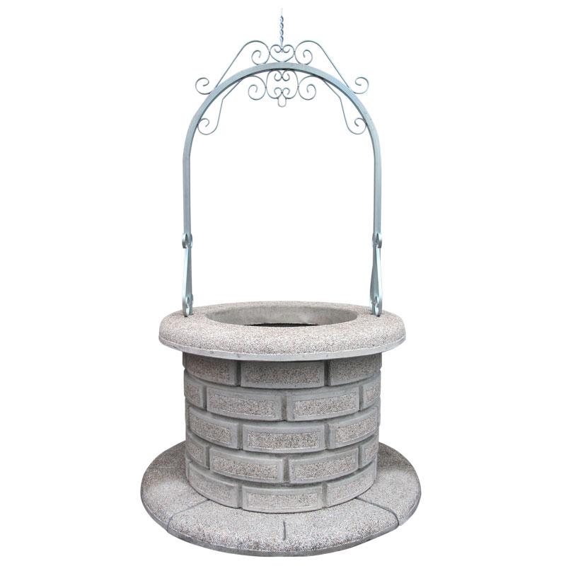 Pozzo per giardino martellinato stromboli kam arredo for Pozzo da giardino decorativo