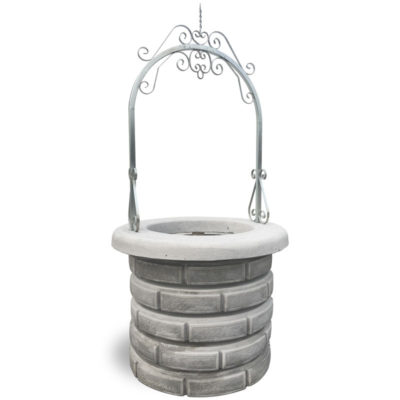 Pozzo Decorativo per Giardino in cemento Mod. Teide-g