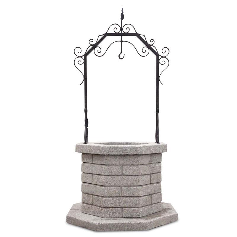 Pozzo Decorativo per Giardino in cemento Mod. Vesuvio